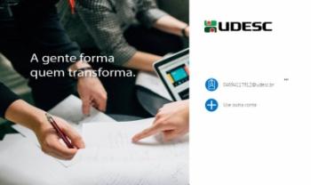 Servidores podem entrar na nova plataforma em office.udesc.br<br>Foto: Imagem/Secom